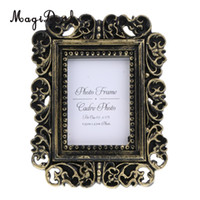 Wholesale Mirror Ornament - MagiDeal Vintage Photo Frame Home Bedroom Office Desk Decor Ornament Resin Picture Frames Gift