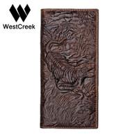 ingrosso portafogli in pelle unica-Portafogli da uomo in vera pelle modello originale con motivo tiger vintage della collezione GMW011