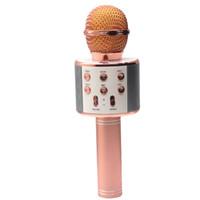 футеровочная пена оптовых-WS858 BluetoothWireless Karaoke Microphone AUX line/ Micro USB charging Line / Foam microphone Covers/ Case box