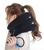 hals schulterklammer großhandel-Velvet Neck Traction Soft Comfort-Klammer-Vorrichtung Einheit für Kopf + Back + Schulter + Nackenschmerzen Health Care Verwenden Sie eine Zeit Mühelosigkeitsschmerz Durable New Arrival