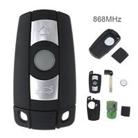 sistemas de llaves al por mayor-Clave 868MHz 3 botones del control remoto para BMW X5 X6 Sistema CAS3 Z4 1/3/5/7 inteligente vehículo de serie clave KEY_10C