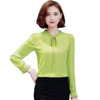 formal blouses tops 2018 - Plus Size Women Chiffon Blouses Fashion 2016 Autumn Korean Style Solid Shirts Women Ladies Elegant Office Shirt Tops Blusas