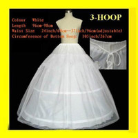 Wholesale full petticoats for sale - Group buy In Stock Hoops Lace Edge Wedding Petticoat Ball Gown Full Crinoline Bridal Petticoats