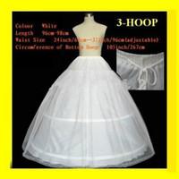 Wholesale free petticoats resale online - In Stock Hoops Lace Edge Wedding Petticoat Ball Gown Full Crinoline Bridal Petticoats