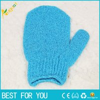 Wholesale 2018 New Hot Exfoliating Bath Gloves Five Shower Accessories Nylon Bath Gloves Bath Supplies Products