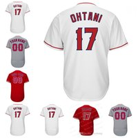Wholesale Womens Xxl - Mens Youth Womens 17 Shohei Ohtani Jersey Los Angeles Baseball Jerseys Flexbase Cool Base White Red Grey Stitched Jersey