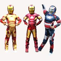 kinder superheld kostüme mädchen großhandel-Halloween für Kinder Kinder Weihnachten Kostüme für Jungen Mädchen Tier Karneval Kinder Superheld Ironman Iron Man Kostüm Kinder Y1891202