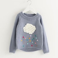 Wholesale Jumpers Clothing For Kids - Baby Girls Sweater Clothes Spring Autumn Sweaters Children Cartoon Bear Leader Cloud Long Sleeve Outerwear O-neck Knitwear For Kids 3-7Y