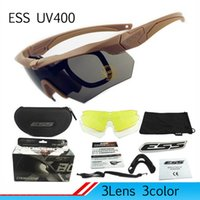 Wholesale Ess Sunglasses - Professional Polarized Cycling Glasses Ess Crossbow Bike Casual Goggles Outdoor Sports Bicycle Sunglasses UV 400 With 3 Lens TR90 XL-560