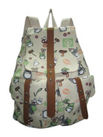 Wholesale Totoro Canvas - 327#A Seven color My neighbor totoro backpack canvas bag printing leisure shopping shoulders female boy backpack bag