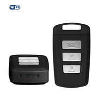 Wholesale Portable Wireless Network - Mini Network Camera Keychain WiFi DVR Recorder 1080P Mini Portable Keyfob IP Camera with Motion Activated Recording Car Key Camera