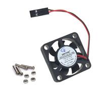 himbeer-pi-kühler großhandel-Beste Qualität Raspberry Pi 3, aktiver Lüfter für Acrylgehäuse / 5V Plug-in und Play / Support Himbeer pi3 Modell B B + / 3d Drucker