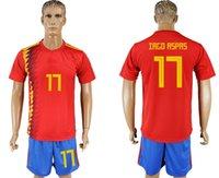 Wholesale cheap soccer uniforms kits - soccer jersey 2018 19 World Cup Spain IAGO ASPAS 17 camisetas de futbol home retro uniforms kit jerseys 2018 World Cup Jersey cheap