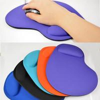 support de poignet pour souris achat en gros de-Tapis de souris souple en silicone EVA avec support pour repose-poignet pour ordinateur portable PC de jeu Mac