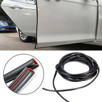 tira de guarda de borda de porta preta venda por atacado-16FT / 5 M Preto Car Molding Door Rubber Auto Scratch Protector Edge Edge Guarnição Guarnição Nova Chegada
