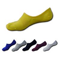 meias de dedo do pé macho venda por atacado-6 par novo estilo verão homens casuais toe meias masculinas de algodão sólido cinco dedo meias homens curto marca invisível tornozelo