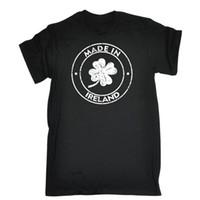 calções irlandeses venda por atacado-Made In Ireland T-shirt País da Irlanda Nacionalidade Nascido Nação Presente de Aniversário de Manga Curta de Desconto 100% Algodão Camisetas