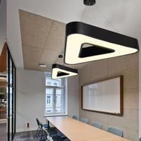pingente de lâmpada preta venda por atacado-Suspensão triângulo de suspensão LED pingente Lâmpada Simples Modern Light AC 85-265 Volt para sala de estar Sala de jantar Office Restaurant Hangin