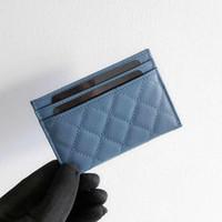 calidad titular de la tarjeta de crédito metal al por mayor-2018 Nueva Moda Diseño Clásico Tarjeta de Crédito Informal Titular de ID Hiqh Calidad Real de Cuero Ultra Delgado Bolso Paquete de la Cartera Para Mujer