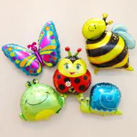 böcek partisi toptan satış-2018 SıCAK Bug Serisi Helyum Balon Karikatür Hayvanlar Dekorasyon Alüminyum Folyo Noel Düğün Doğum Günü Parti Malzemeleri