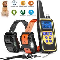 colar cão elétrico impermeável venda por atacado-Elétrica Petrainer Dog Training Colar Ferramenta de controle remoto à prova d 'água recarregável para 1/2/3 cão