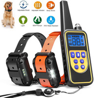 Wholesale dog barking collar rechargeable for sale - Group buy Electric Petrainer Dog Training Necklace Tool collar Waterproof Rechargeable Remote Control For Dog