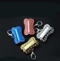 Wholesale lighted dog tags resale online - Cat Puppy Collar USB Charging LED Pet Tag Colourful Bone Shape Dog Pendant Blinking Safety Night Walking Lights Keychain New xc Y
