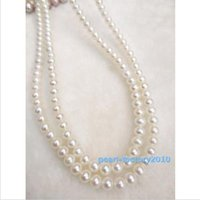 """Wholesale white akoya cultured pearl necklace - 35"""" AAAA Akoya Cultured Pearl 6mm,14K Gold Necklace Top Grading"""