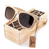 vögel handgefertigt großhandel-BOBO VOGEL Neue Mode Handgefertigte Holz Holz Sonnenbrille Nettes Design für Männer Frauen gafas de sol steampunk Kühlen Sonnenbrille BS04
