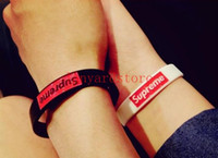 Wholesale Order Wristbands - Wholesale - 50pcs Fashion fashion collocation supr silicone bracelet Wristband Surf Lots Mix Order Bracelet Gift free shipping