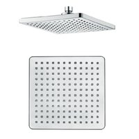 Wholesale spray chrome plated - Shower ABS eight-inch full plating surface square top spray shower set head