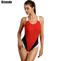 5009265708d73 Riseado Competitive Swimwear Women 2017 One Piece Swimsuit Training Sports  Suit Backless Swim Wear monokini Bathing Suits