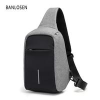 Wholesale ipad flap - New Men Messenger Bag Chest Pack Brand Anti-Theft Design Men Shoulder Crossbody Bags for Ipad