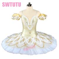 erwachsene schwan kostüm großhandel-Gold Schnee Frauen Nussknacker Professional Ballet Tutu Erwachsene Dornröschen Ballett Kostüm Swan Lake Klassische Ballett Kostüme BT9154