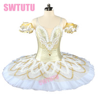 traje de cisne adulto venda por atacado-Mulheres de Neve de ouro Nutcracker Tutu de Balé Profissional Adulto Bela Adormecida Ballet Costume Swan Lake Trajes de Balé Clássico BT9154