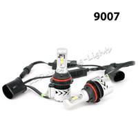 h4 привел hi low оптовых-H4 H13 9004 9007 XHP50 чипы авто светодиодные фары лампа Привет ближнего света в одном наводнения автомобилей фары комплект 6000 К противотуманные фары лампа