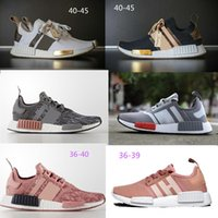 Wholesale discount running shoes for sale - nmd r1 Discount Cheap pink red gray NMD Runner R1 Primeknit PK Low Men s Women s shoes Classic Fashion Sport track shoes