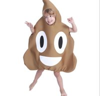 Wholesale clothing fancy for sale - kids Poop Emoji Halloween Costume Jumpsuit Fancy Party Novelty poop jumpsuit party cosplay poop clothes KKA6113