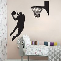 Wholesale basketball mural bedroom resale online - New Arrival Basketball Players Wall Stickers Removable Sport Wall Decal Mural Home Decoration for Boy s Room