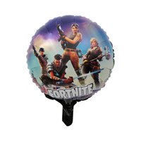 Wholesale toys balloons kids online - 18 Inch Fortnite Aluminum Foil Balloon Kids Toy Large Balloon Birthday Party Supplies Christmas Halloween Decoration