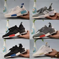 Wholesale Burgundy Yellow - 2018 NMD Runner R1 Primeknit Sneakers Best Quality New Men And Women Running Shoes Triple White Black Discount Sport Shoes