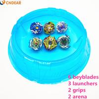 große beyblades großhandel-Beyblade Burst Toys blau Arena Mit Launcher Starter Bayblade Metal Fusion Gott Kreisel Bey Blade Blades Jungenspielzeug F