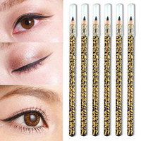 Wholesale makeup tools accessories - Hot Portable Girls Women Yellow Leopard Print Black Eyeliner Cosmetic Makeup Eye Liner Tools Accessories