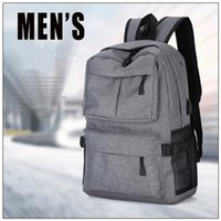 Wholesale Wholesale Plain Notebook - 4 Colors 22inch External USB Charge Laptop Backpack Anti-theft Notebook Computer Bag Leisure Travel Backpack CCA8625 10pcs