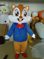 Wholesale squirrel mascot costumes - 2018 Hot sale Couple squirrels mascot costumes props costumes Halloween free shipping