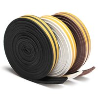 Wholesale Rubber Seal Stripping - 5M E-type Foam Draught Self Adhesive Window Door Excluder Rubber Seal Strip