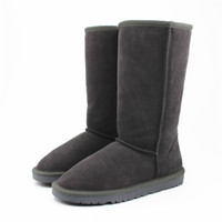 Wholesale Tall Waterproof Boots Women - WGG Classic Australia Tall Boots Waterproof Cowhide Genuine Leather Snow Boots Bailey Bowknot Warm Shoes For Women 15