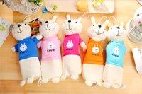 weißer kaninchenplüsch großhandel-INS 8 Farbe Nette kleine weiße Kaninchen Plüsch Federmäppchen Schreibwaren Tasche große Kapazität Schreibwaren Box Student Kinder Schulbedarf H079