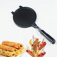 ingrosso muffa a cono-Stampo per frittata Stampo per torta croccante Pan Bakeware Attrezzo per cottura torta 17cm per gelato Cono nero per DIY 33rs V