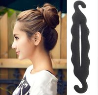 Wholesale hair styles for braids online - Magic Hair Styling Twist Styling Bun Hairpins Hairdisk Meatball Head Rubber Clip Hair Accessories For Women Hair Braiding Tool